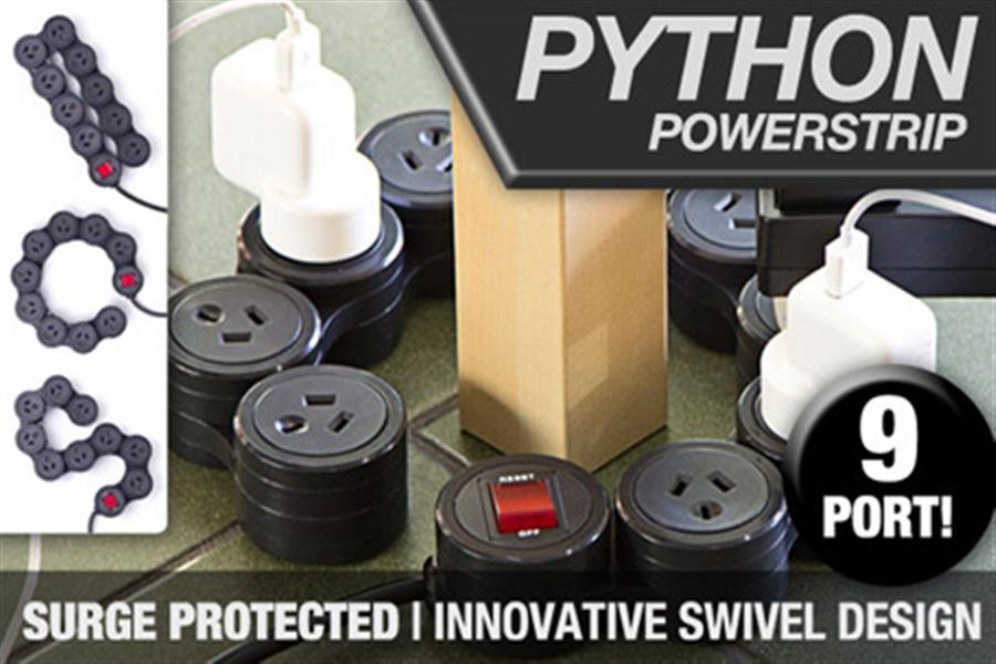 Innovative 9 Port Python Powerboard Strip, Delivered