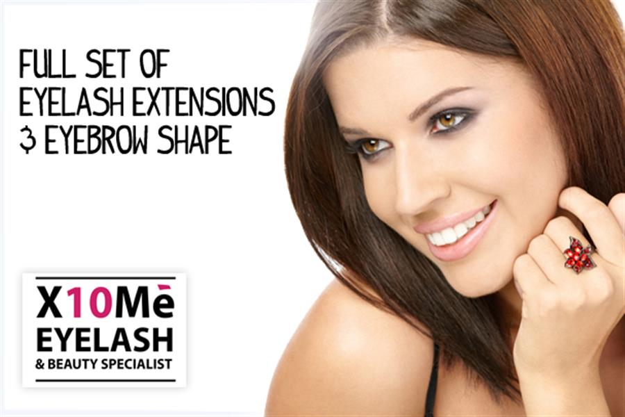 North Melbourne Full Set Of Eyelash Extensions And Eyebrow Shape