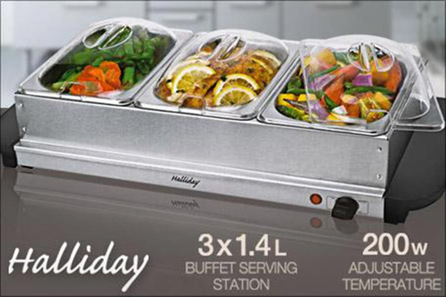 three tray electric buffet food warmer delivered rh scoopon com au Warming Trays On Sale Warming Serving Trays