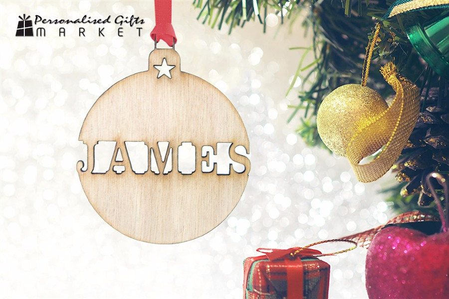 Personalised Wooden Christmas Ornaments Delivered