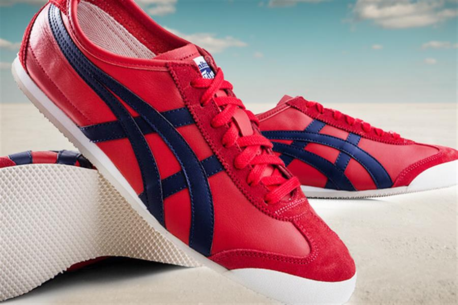 more photos 31e7a d8387 Onitsuka Tiger Men's Mexico 66 in Red/Navy, Delivered!