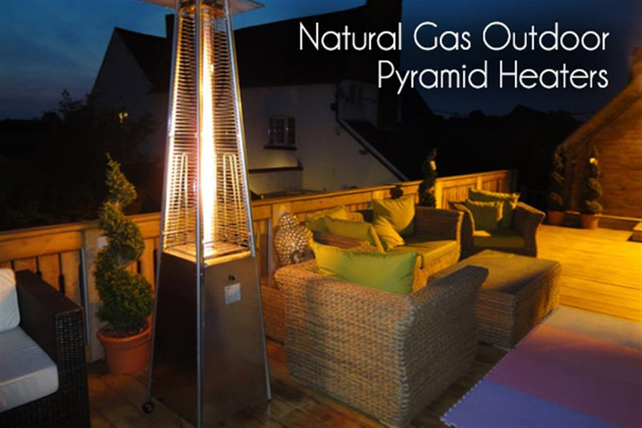 Delivered Natural Gas Outdoor Pyramid Heater