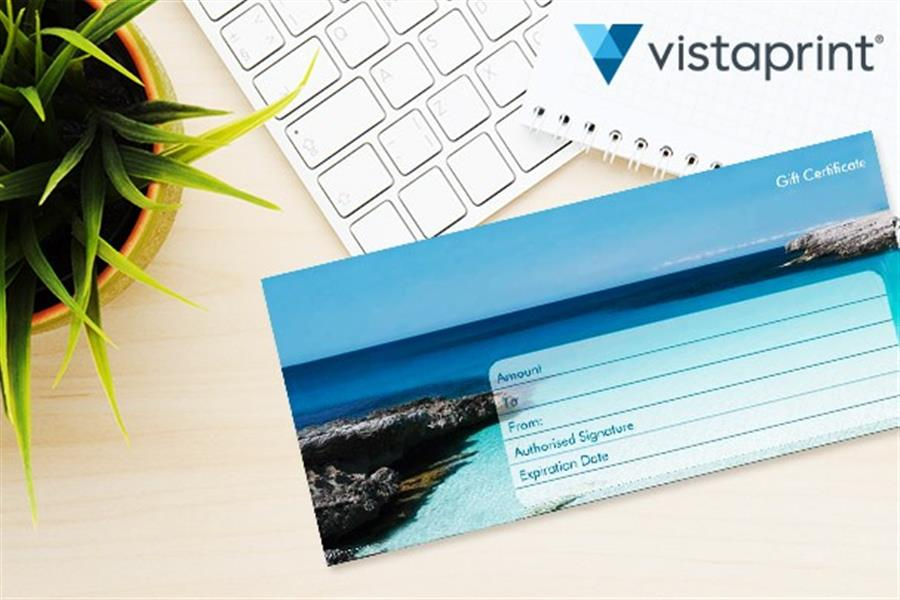 Personalised Gift Certificate Pack from Vistaprint