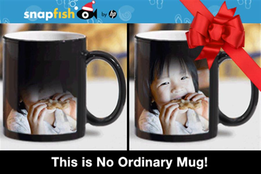 just 10 to create your own personalised magic mug with a special