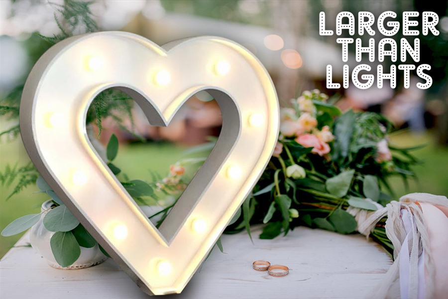 Giant Light Up Letter Hire Weddingspartiesevents