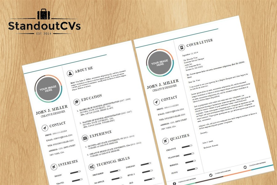 professional resume and cover letter template package
