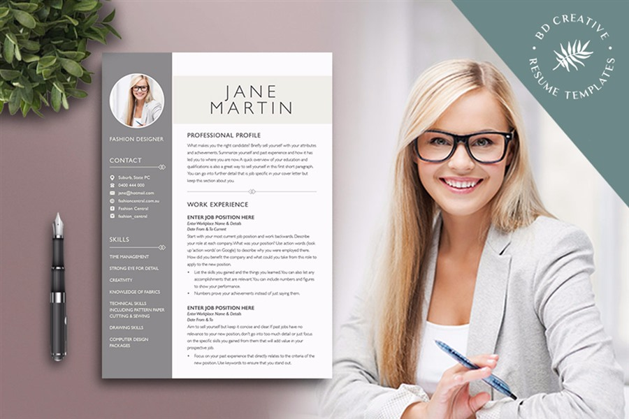 professional resume package with templates and more