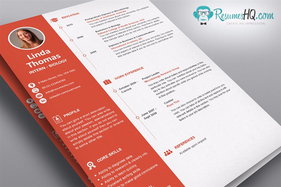 Designer Resume and Cover Letter Template Package